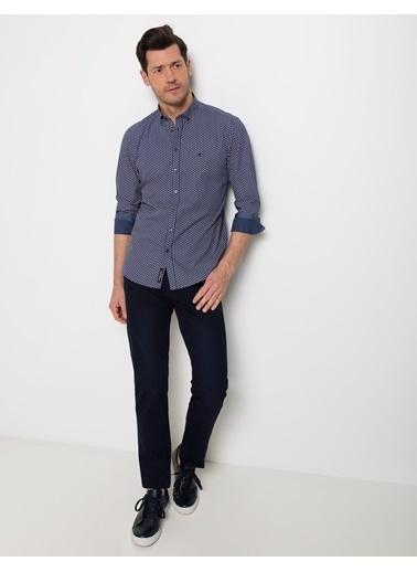 Pierre Cardin Desenli Slim Fit Gömlek Kırmızı